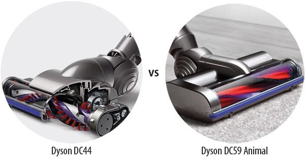 Comparing the brushes of the DC44 and DC59